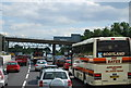 TQ5790 : Approaching Warley Road Bridge, M25 by Nigel Chadwick