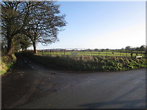 SJ8970 : Lowes Lane/Woodhouse End Road junction, Gawsworth by Peter Turner