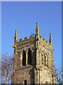SK6023 : St Mary, Wymeswold - the top of the tower by Alan Murray-Rust