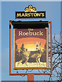 SO8995 : The Roebuck pub sign in Penn, Wolverhampton by Roger  Kidd