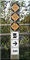 SP1562 : British Waterways signs by Robin Stott