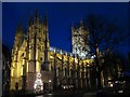 TR1557 : Canterbury Cathedral at night : Week 51