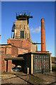 SK4964 : Pleasley Colliery - south shaft : Week 51