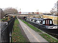 TQ2581 : Footbridge 3B Paddington Arm - Delamere Terrace by David Hawgood
