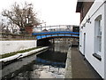 TQ2681 : Paddington Arm - stop lock and toll house at Little Venice by David Hawgood