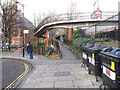 TQ2581 : Footbridge 3B Paddington Arm - ramp from Delamere Terrace by David Hawgood