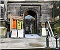 SJ8990 : Entrance to Stockport Parish Church by Gerald England