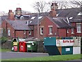 NZ1164 : Recycling centre, car park of Tyne Riverside Park, Wylam by Andrew Curtis