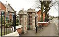 J2664 : School gates, Lisburn by Albert Bridge