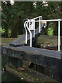 SP6396 : Detail of lock gates, Spinney Lock by Kate Jewell