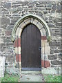 SO4593 : Doorway, St Lawrence Church, Church Stretton by Eirian Evans