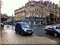 SE0925 : Pavement parking near the Market Street Halifax bank branch, Halifax by Phil Champion