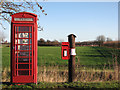 TL5462 : Long Meadow: telephone and post boxes by John Sutton