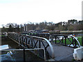 SJ6470 : Vale Royal locks - swing bridge by Stephen Craven