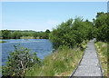 SN6862 : Boardwalk and pool on Cors Caron, Ceredigion by Roger  Kidd