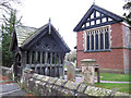 SJ6269 : Whitegate church lychgate by Stephen Craven