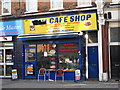 TQ2183 : Cafe Shop, 69 Park Parade, NW10 by Mike Quinn