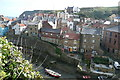 NZ7818 : Staithes from Cowbar Bank by Graham Horn