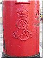 TQ2183 : Edward VII postbox, Crownhill Road / Manor Park Road (A404), NW10 - royal cipher. by Mike Quinn