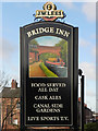 SJ7992 : Bridge Inn (sign) by David Dixon