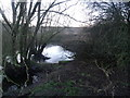 SJ6656 : Junction of Leighton Brook and the River Weaver by  Moston-Harratt
