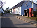 TM2782 : The Street, Mendham &amp; Sir Alfred Munnings Hotel Postbox by Adrian Cable