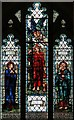TQ2569 : St John the Divine, High Path, Merton - Stained glass window by John Salmon