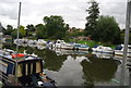 TQ7353 : Boats moored at East Farleigh by N Chadwick