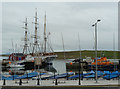 HU4741 : Bressay Slip and Victoria Pier with boats, Lerwick by Rob Farrow