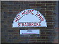 TM2675 : Red House Farm sign by Adrian Cable