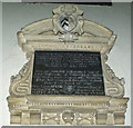 SK8043 : Memorial to Anne Staunton, St Mary's church by J.Hannan-Briggs