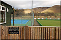 NT1136 : Tennis court and bowling green, Broughton by Jim Barton