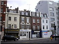 TQ2978 : Row of shops and public house in Vauxhall Bridge Road by PAUL FARMER