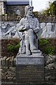 R1388 : Statue of the poet Brian Merriman, Church Street, Ennistymon by P L Chadwick