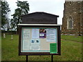 TL2051 : St Mary the Virgin, Everton, Noticeboard by Alexander P Kapp