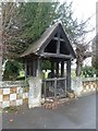 TL1653 : The Parish Church of St Peter, Tempsford, Lychgate by Alexander P Kapp
