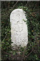 SY6873 : Admiralty boundary stone by Roger Templeman