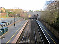 SO9669 : Bromsgrove Station Northwards From Footbridge by Roy Hughes