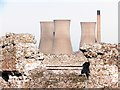 TR3260 : Richborough Castle and Power Station by Oast House Archive