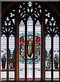 TQ2572 : St Luke, Ryfold Road, Wimbledon Park - Stained glass window by John Salmon