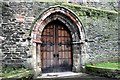 SH7877 : Doorway in St Mary and All Saints Church, Conwy by Jeff Buck
