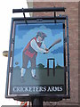 SE6132 : The sign for the Cricketers Arms, Selby by Ian S