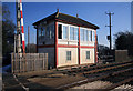 SK8613 : Ashwell signal box and crossing by roger geach