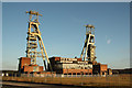 SK5963 : Clipstone Colliery headstocks by Richard Croft