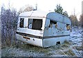 NH4940 : Old caravan at Teanacoil Sawmill by Craig Wallace