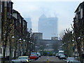 TQ4080 : Canary Wharf from Britannia Village by Thomas Nugent