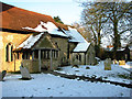 TM0942 : Churchyard of All Saints and St Margaret's church, Chattisham by Evelyn Simak