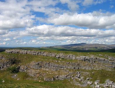 SD8366 : Limestone scar near Winskill Stones by Trevor Littlewood