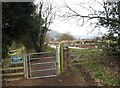 SO7971 : Gate on the Severn Way by Lickhill Manor Caravan Park, near Stourport-on-Severn by P L Chadwick