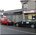 ST3188 : Nicola Moran Hair Co and two business vehicles, Newport by John Grayson